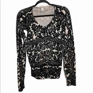 WHITE HOUSE BLACK MARKET buttondown sweater large